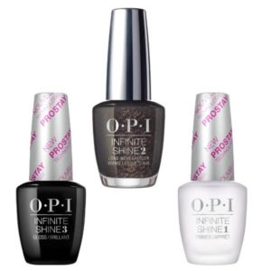Set - OPI Infinite Shine Lacquer - Top The Package With A Beau:Lac de Unghii Colorat OPI